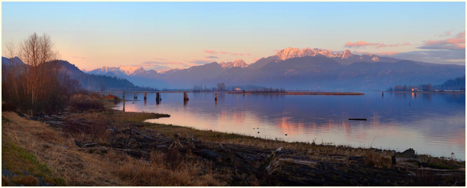 Sunset Pitt River Pano